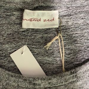 Mustard Seed Tops - Mustard seed gray cold shoulder sweater